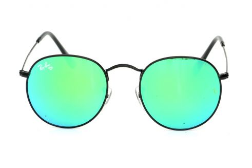 Ray Ban Round Metal 3447green-b